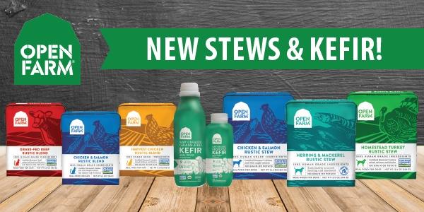Open Farm - stews and kefir