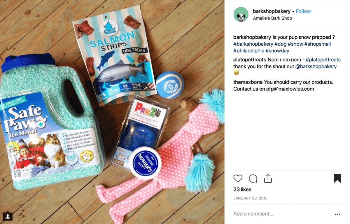 Winter Social Media Post, Amelie's Bark Shop